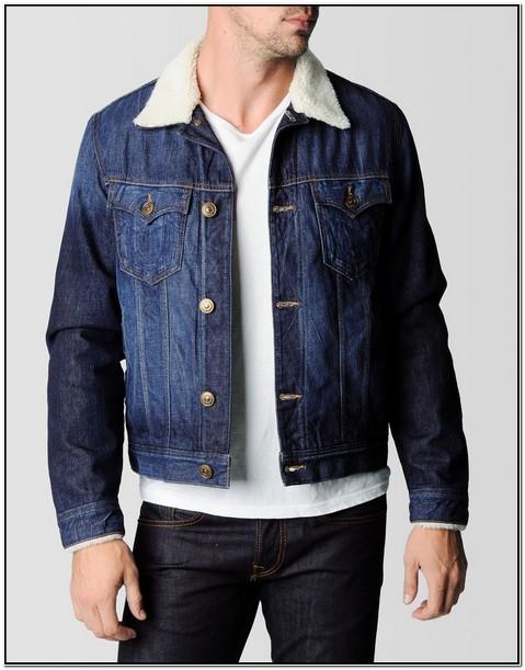 True Religion Jean Jacket With Fur Collar