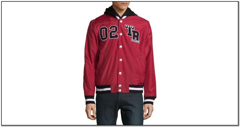 True Religion Red Bomber Jacket