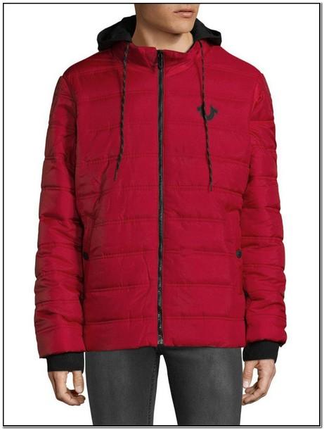 True Religion Red Puffer Jacket