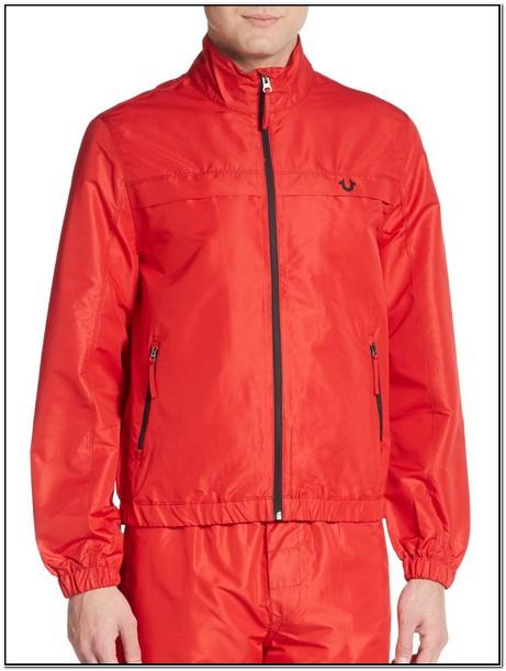 True Religion Windbreaker Jacket Red