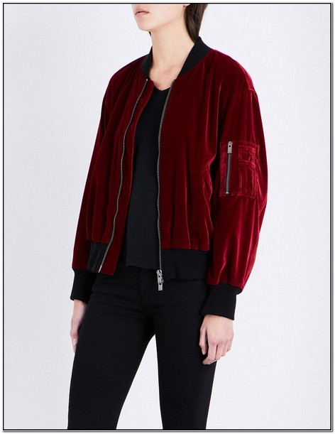 Velvet Bomber Jacket Mens Uk