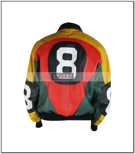 Vintage 8 Ball Leather Jacket