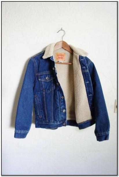 Vintage Levis Sherpa Jacket Womens