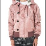 Vs Pink Hooded Bomber Jacket