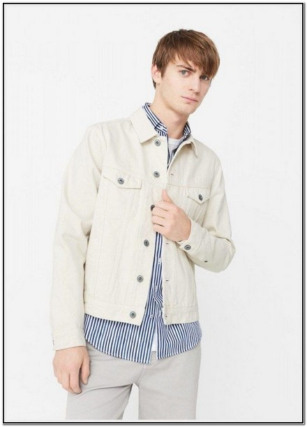 White Denim Jacket Mens