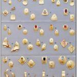 White Gold Earring Jackets Dangle