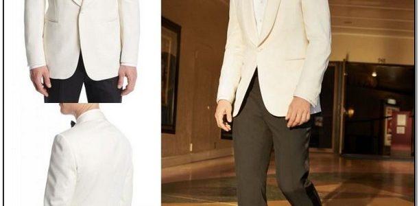 White Jacket Black Pants Tux