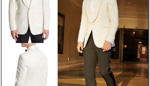 White Jacket Black Pants Tux