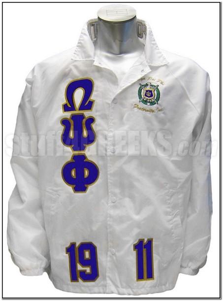 White Omega Psi Phi Jacket