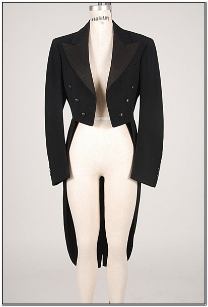 Womens Cropped Tuxedo Jacket With Tails