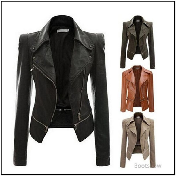 Womens Faux Leather Jackets On Sale