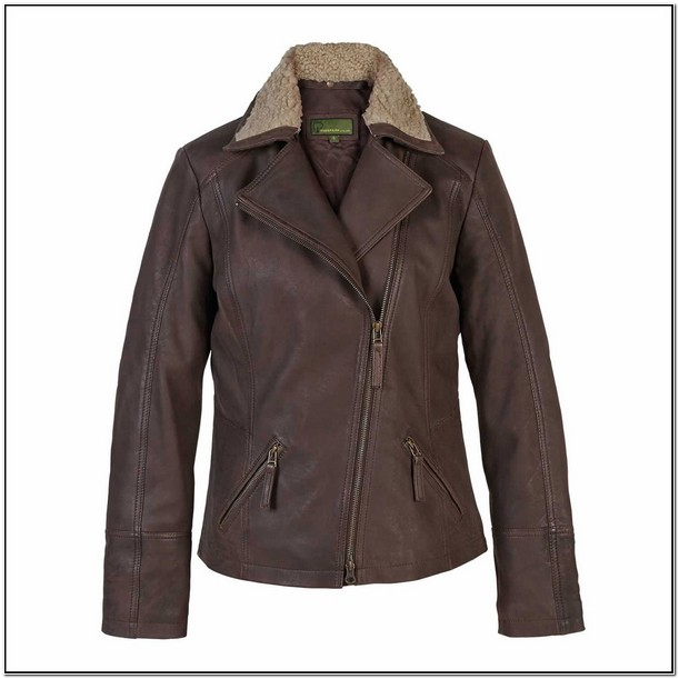 Womens Real Leather Aviator Jacket