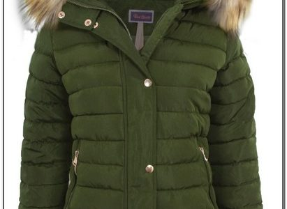 Womens Red Puffer Jacket With Fur Hood