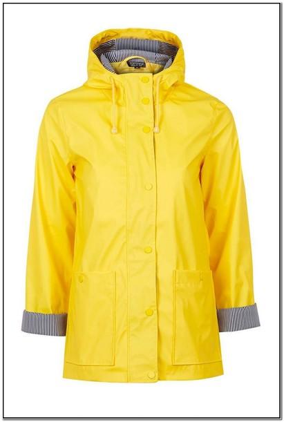 Yellow Rain Jacket Womens Topshop