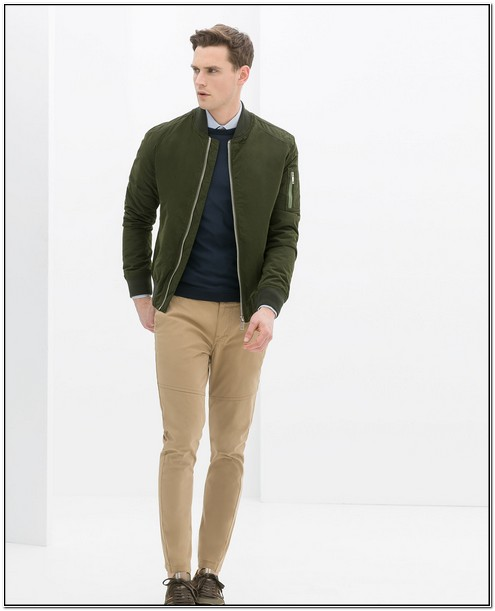Zara Mens Gold Bomber Jacket